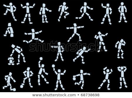 cartoon · hand · volleybal · tekening · kunst · spelen - stockfoto © indiwarm