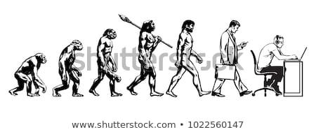 Stock photo: buisnessman evolution