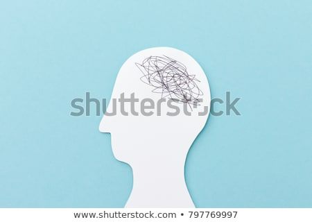 Confused puzzled human brain Stock photo © Lightsource