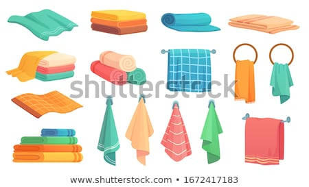 colorido · toalhas · branco · azul · banheiro - foto stock © ziprashantzi