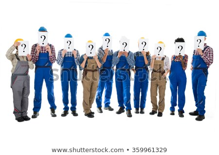 Tradesmen standing face to face Stock photo © photography33