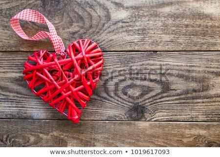 Fonott szív dísz piros alakú doboz Stock fotó © wavebreak_media