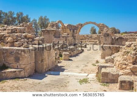 Romok negyven oszlopok régészeti park kastély Stock fotó © Snapshot