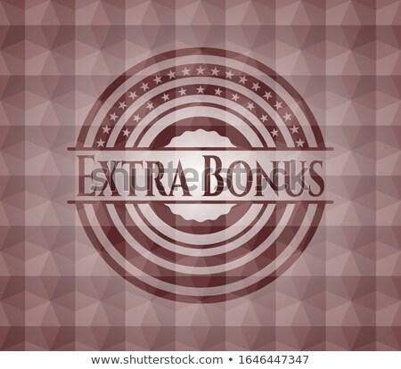 Extra prima rojo hexágono banner botón Foto stock © marinini