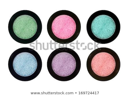 Groene ogen vrouw zwarte make oog schaduw Stockfoto © lunamarina