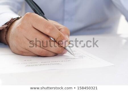 Alguém assinatura contrato topo ver mãos Foto stock © vankad