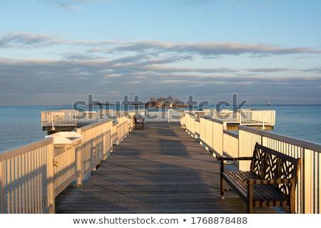 Connecticut praia pôr do sol bastante tiro em torno de Foto stock © ArenaCreative