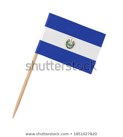 Miniature Flag of El Salvador (Isolated) Stock photo © bosphorus