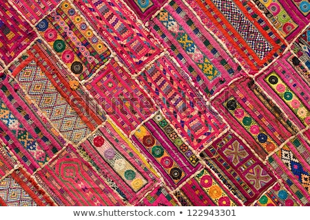 Colorful indian fabric textile. India Stock photo © dmitry_rukhlenko