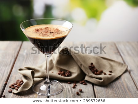 Espresso martini cocktail boire café Photo stock © travelphotography