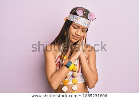 美しい 自由奔放な 少女 ポーズ 1泊 写真 ストックフォト © PawelSierakowski