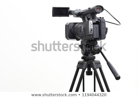 Stock photo: video camera on tripod