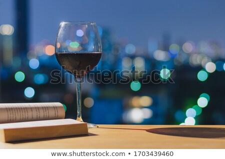Világváros vörösbor városkép buli étterem ital Stock fotó © 3523studio