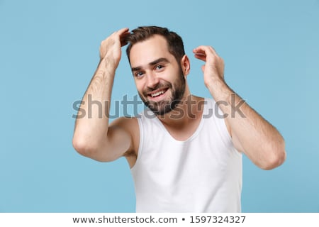 topless  man touches his beard Stock photo © feedough