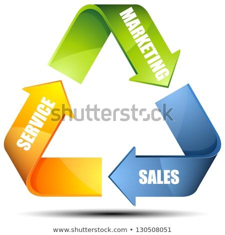 service, marketing, sales in arrows Stock photo © marinini