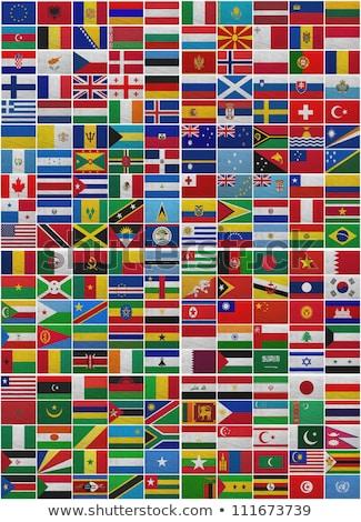 Vászon zászló UN levelek textúra levél Stock fotó © michaklootwijk