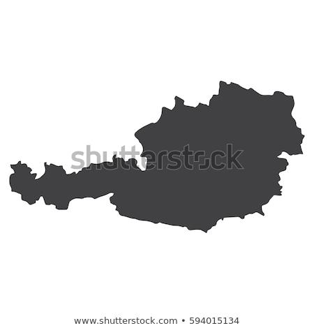 Fekete Ausztria Terkep Regio Keretek Varos