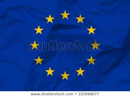 Európai szövetség zászló papír textúra öreg újrahasznosított Stock fotó © stevanovicigor