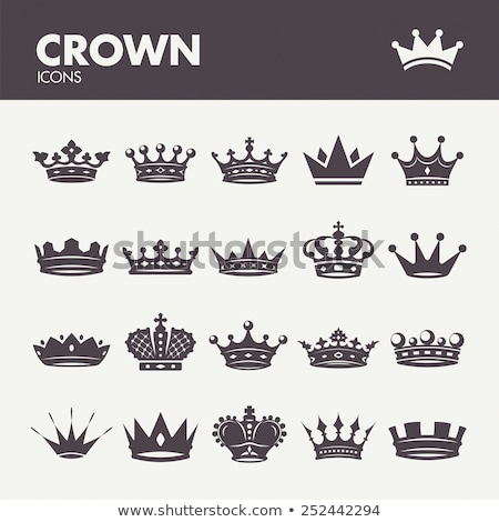 Stock photo: Set of ancient crowns