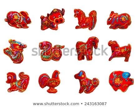 yellow toy horse the symbol of new year stock photo © Spanish
