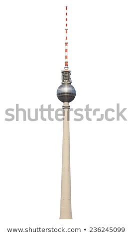 タウン · ベルリン · 有名な · テレビ · 塔 · 川 - ストックフォト © photocreo