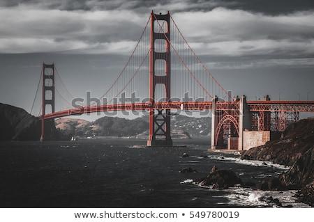 Golden Gate Bridge olas San Francisco cielo agua carretera Foto stock © hanusst