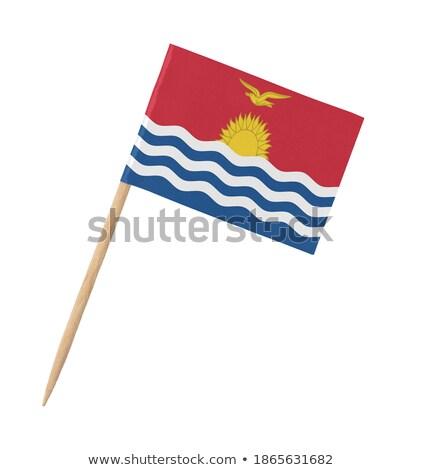 миниатюрный флаг Кирибати изолированный красный Сток-фото © bosphorus