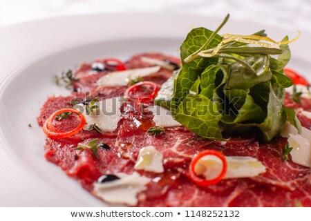 Parmigiano pesto cucina ristorante verde pane Foto d'archivio © hanusst
