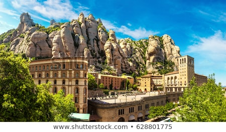Aerial view from mountains of Montserrat, Catalonia Stock photo © dinozzaver