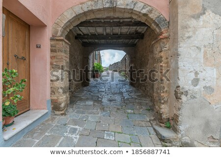 Way to a building of Nuremberg castle Stock photo © w20er