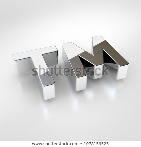 Marque chrome signe isolé blanche ombre Photo stock © make