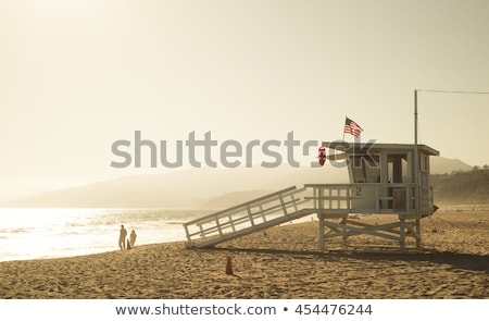 известный спасатель дома Майами пляж Флорида Сток-фото © vwalakte