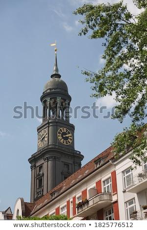 cityscape of Hamburg from the famous tower Michaelis Stock photo © meinzahn