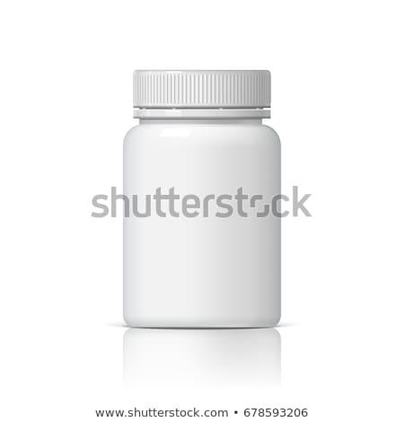 Gyógyszeres üveg fehér 3D izolált orvosi gyógyszer Stock fotó © fpi107