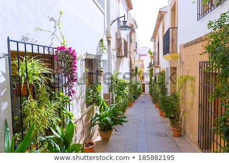 javea xabia old town streets in alicante spain stock photo © lunamarina