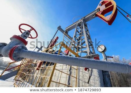 Red Pumpjack Stock photo © songbird