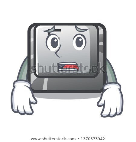 Stock photo: afraid word on computer pc keyboard key