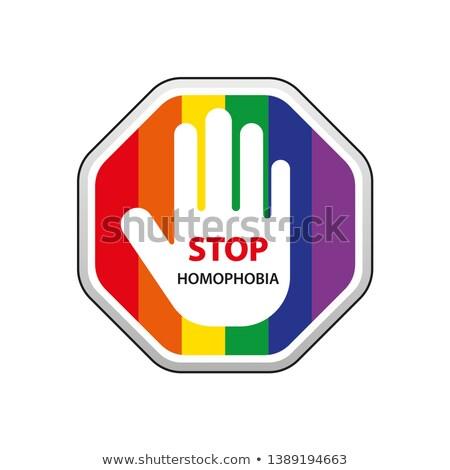 stop homophobia Stock photo © nito