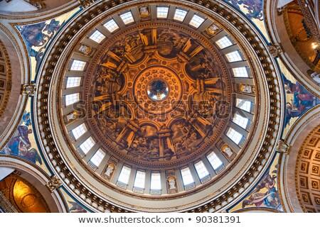 Kościoła wnętrza Londyn starożytnych fresk obrazy Zdjęcia stock © Vividrange