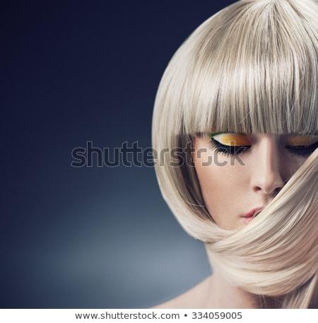 dama · retrato · jóvenes · morena · negro · mujer - foto stock © nejron