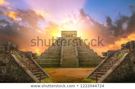 チチェン·イツァ · 古代 · ピラミッド · 寺 · 空 · 建物 - ストックフォト © thp