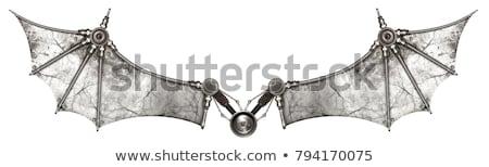 Vieux métal vu isolé blanche bois Photo stock © Koufax73