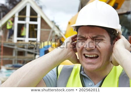 Construction Suffering From Noise Pollution On Building Site Stock photo © HighwayStarz