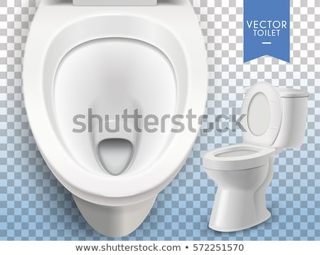 Toilet bowl on white background. Isolated 3D image stock photo © ISerg