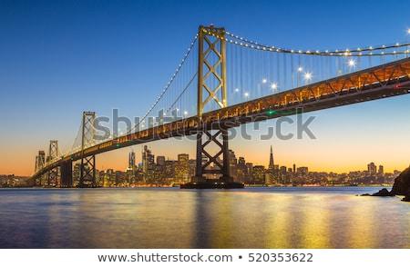 crépuscule · pont · San · Francisco · Skyline · Californie · vue - photo stock © hanusst