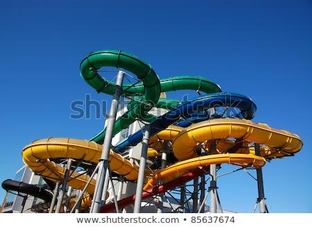Tubo parque aquático blue sky céu verão verde Foto stock © amok