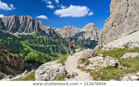 турист долины женщину горные юг небе Сток-фото © Antonio-S