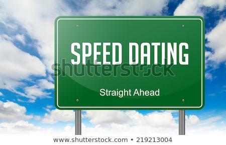 скорости знакомства шоссе указатель дороги сердце Сток-фото © tashatuvango