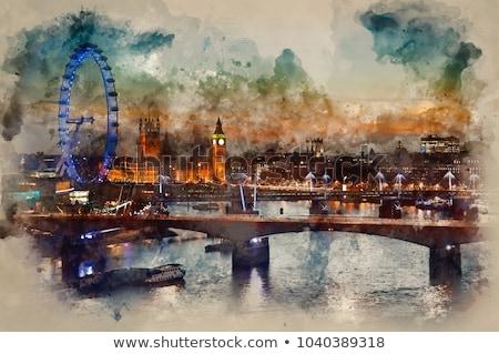 Londres · ojo · anochecer · 15 · Big · Ben · 2012 - foto stock © anshar