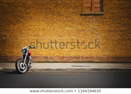 Stock photo: Parked motorcycles